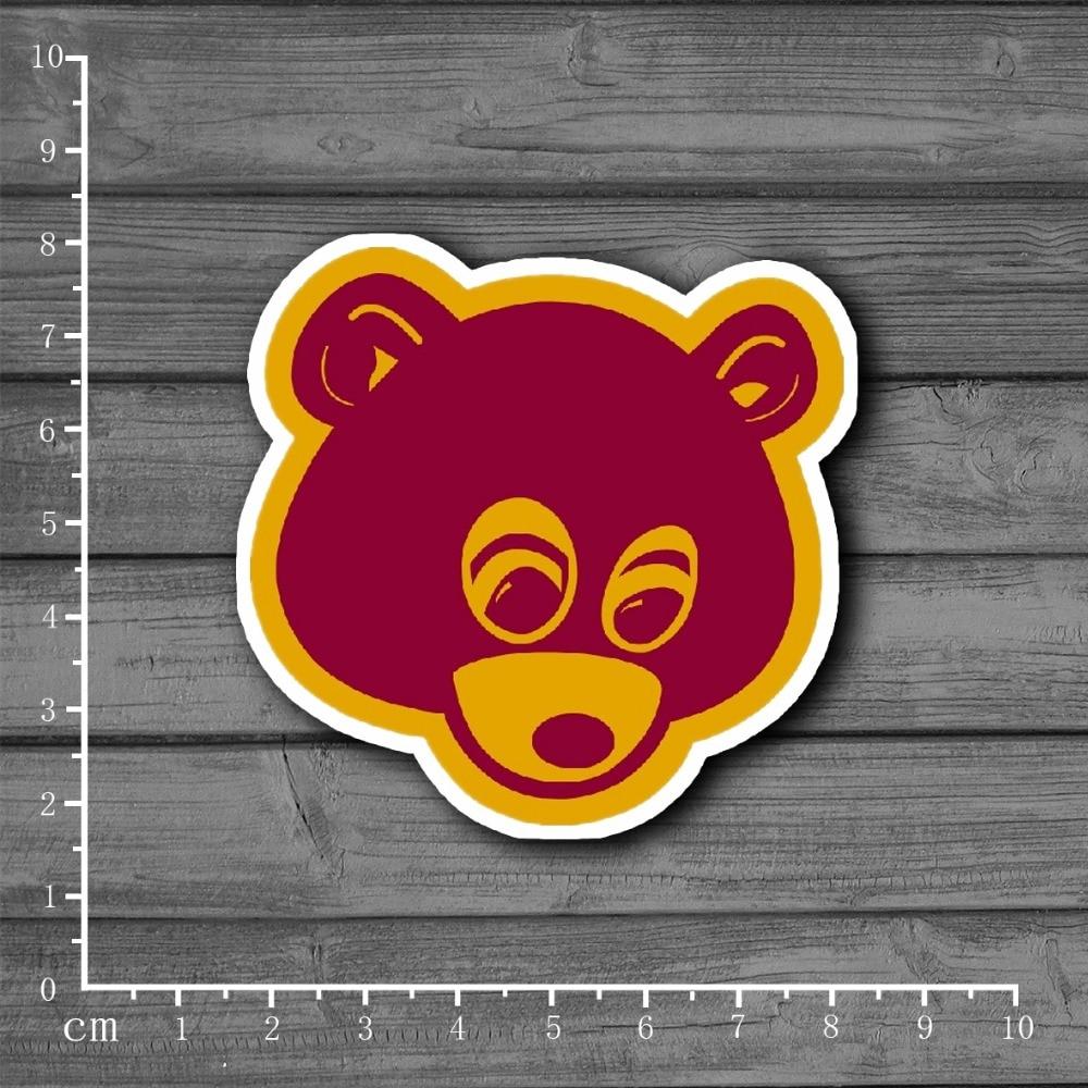 Cute Kanye West Bear Stationery Graffiti Suitcase Kids Toys Sticker Decor For Ablum Scrapbooking Laptop Notebook Sticker[Single]