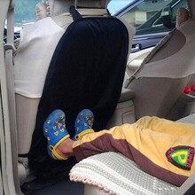 Профессиональная Горячая Распродажа, детская Автомобильная защитная накладка на заднюю часть сиденья для детей, грязеочиститель черного и синего цвета, высокое качество