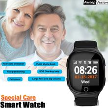 Elderly Smart Watch GPS LBS WIFI Positioning SOS help Anti-lost Heart Rate Sports Tracker Alarm Wristwatch for Old People Elder(China)