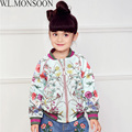 W.L.MONSOON Girl Coats Manteau Fille Kids Jackets for Girls Clothes 2017 Spring Brand Flower Print Girls Outerwear Children Coat