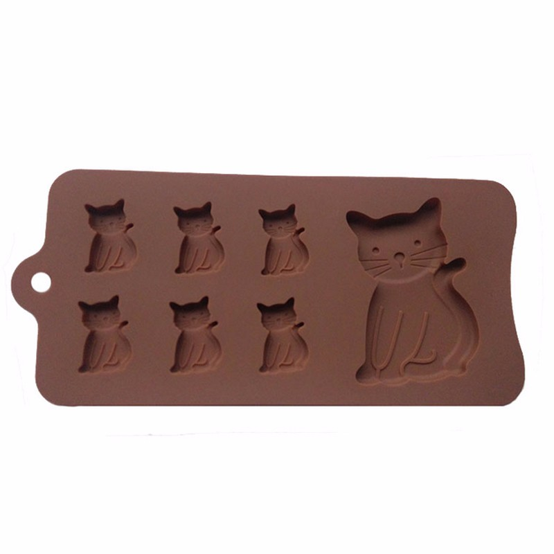 Cat Shaped Silicone Mold for Candy, Chocolate, Crafts
