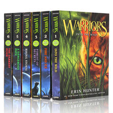 6 boeken Erin Hunter WARRIORS seizoen 1 Box Set Collectie Boeken 1-6 Kind Kids Schoolkinderen Engels Fiction Roman boek(China)