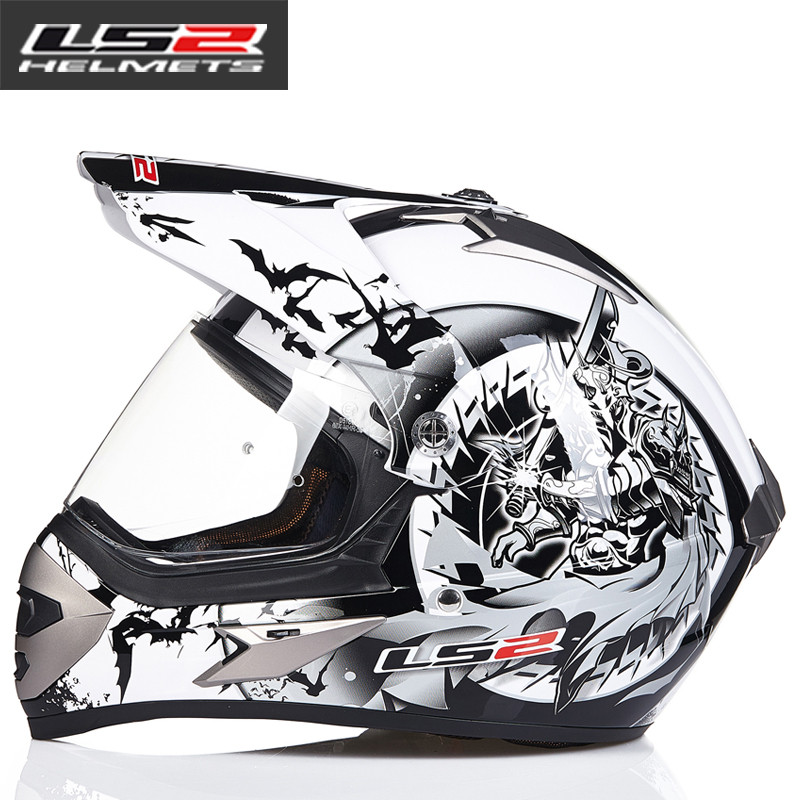 LS2 MX433 внедорожный мотоциклетный шлем с ветрозащитным щитом мотокросса шлемы костюм для мужчин и женщин одобренный ECE - Цвет: 15