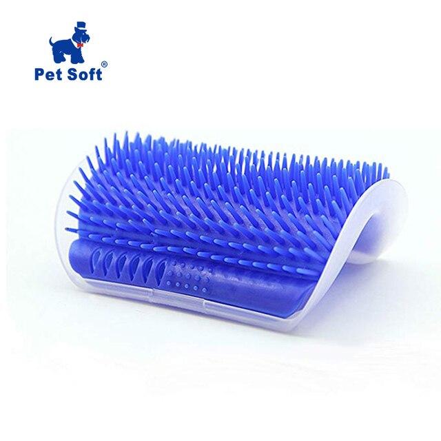 Accesorio para el cabello de gato suave para mascotas, accesorio para el cabello, herramienta de aseo para gatos, peine para depilación, cepillo para perros y gatos, dispositivo de masaje con catnip