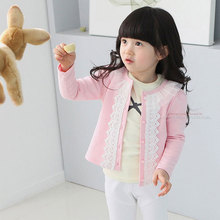 Children Coat Baby Girls Thin Spring Coats long sleeve coat girl's Baby jacket Autumn Outerwear Lace недорого