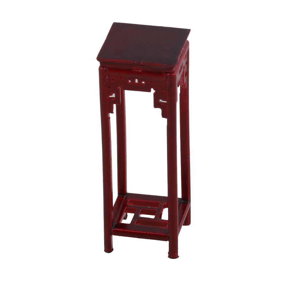 Building An End Table Us 3 02 5 Off Mxfans 12x12x33mm Rose Wood Color 1 25 Dollhouse Miniature Flower High Foot Chinese Table Furniture Building Model In Model Building