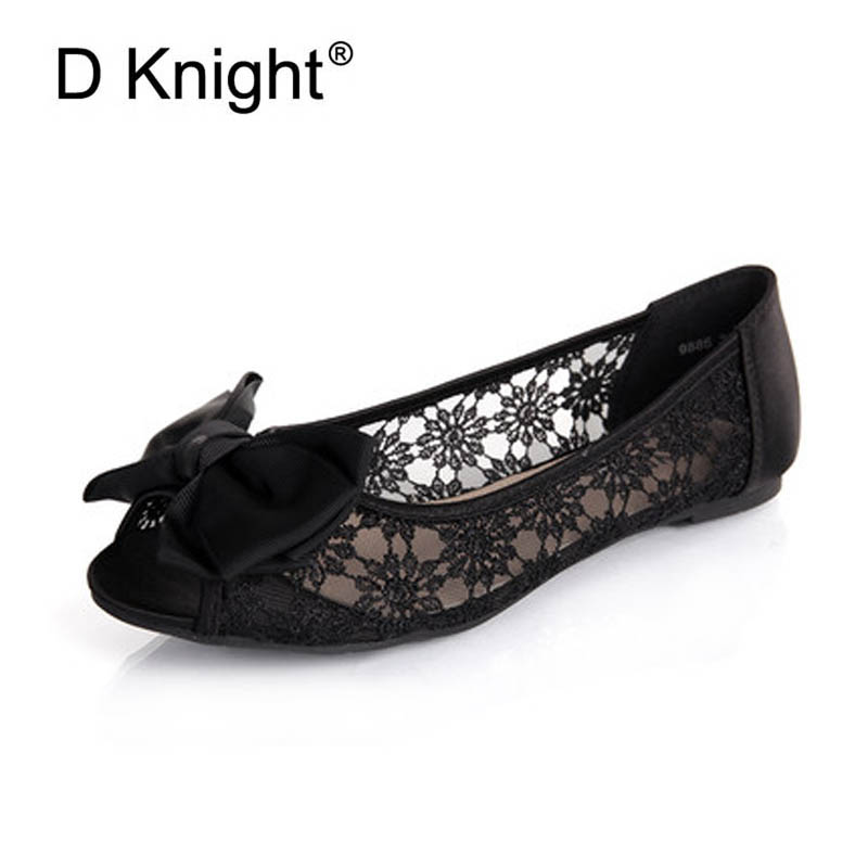 New Fashion Bow Round Toe Slip-on Women Lace Flats Comfortable Ladies Casual Flat Shoes Women's Lace Ballerinas Flats Size 35-40 new arrivals 2016 l solid plain lace up round toe platform flat heels comfortable flats sale women fashion shoes