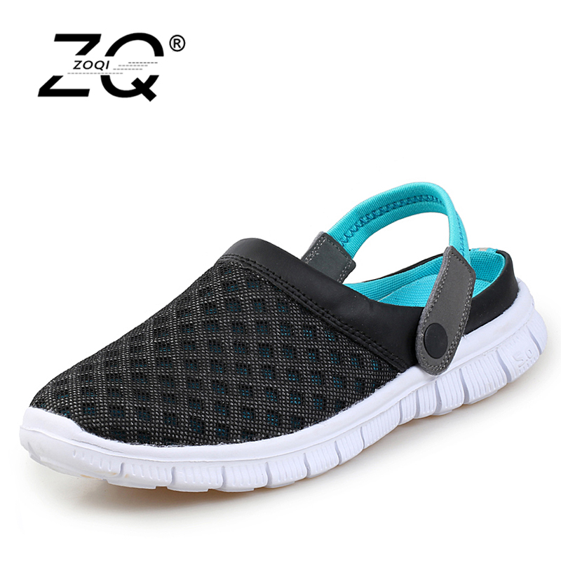 Men's Summer Shoes Sandals 2017 New Breathable Men Slippers Mesh Lighted Casual Shoes Outdoor Slip On Shoes Beach Flip Flops