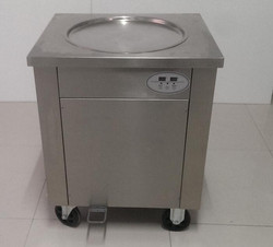 Gorąca sprzedaż pojedyncza 45cm okrągła miska smażona maszyna do lodów tajskich 110v/220v/50hz/60hz