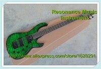 مخصص للتسوق الزمرد الأخضر مبطن أعلى جسم الغيتار diy 5 سلسلة باس غيتار كهربائي الصين أعسر مخصص متاح