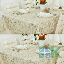 Hot Sale European Style Universal Linen Lace Coffee Tablecloths Small Crown  Letter Pattern For Picnic Or Wedding