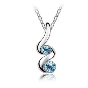 2016 heißer Modeschmuck Business Dame kleine frische Einfache Mode österreichischen Kristall Halskette-Knospe