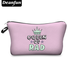 Deanfun 2016 New Fashion 3D Printing Women Cosmetic Bags With Emoji Pattern for Traveling easy taking h69