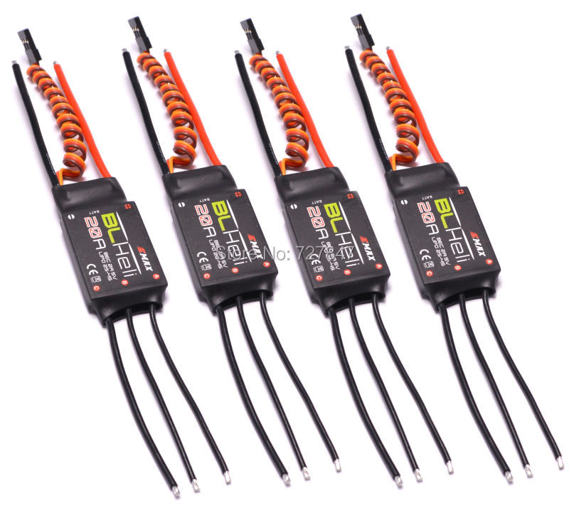 4 PCS Emax BLHeli firmware 20A ESC Speed Controller 2A/5V BEC for RC Multirotor / Quadcopter 2-4s LiPo flycolor w fw030004 b1b1 01 20a esc speed controller for 250 300 rc quadcopter