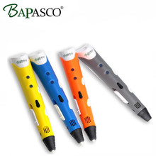 Christmas gift 3D Printer Pen Hot selling Draw 3d printing Pen With 3 Color ABS Filament Arts LED Printer 3d pens lix for kids
