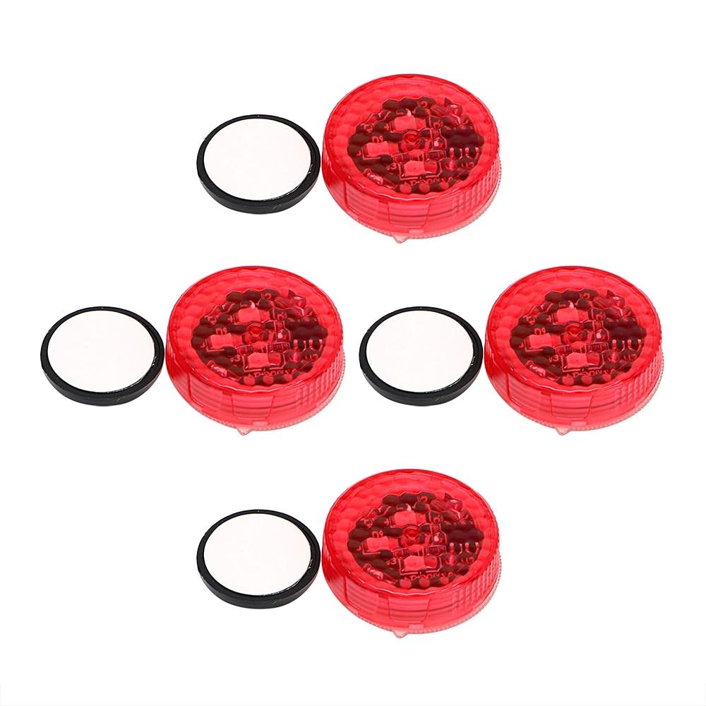 Двери автомобиля свет магнитный контроль светодиодный сигнальная лампа 4шт/комплект сигнальной лампы Анти столкновение мигающий Красный автомобиль-стайлинг