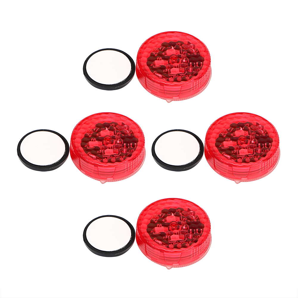 Car Door Lights Magnetic Control LED Warning Lamp 4pcs/Set Signal Lamp Anti Collision Flashing Red Car-styling