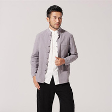 Chinese Style Jacket  Men Cotton Linen  Coat Size M to 3XL