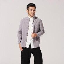 Chinese Style Jacket  Men Cotton Linen  Coat Size M to 3XL цена