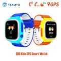 Teamyo 2016 crianças relógio com wifi gps smart watch q90 Chamada SOS posicionamento Locator Localizador de Crianças Para Crianças Anti Perdido rastreador