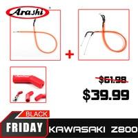 Arashi Throttle Line Wire +Clutch Cable + Rubber Shift Sock Motorcycle For KAWASAKI Z800 2013 2015 Z 800 Z 800 2013 2014 2015