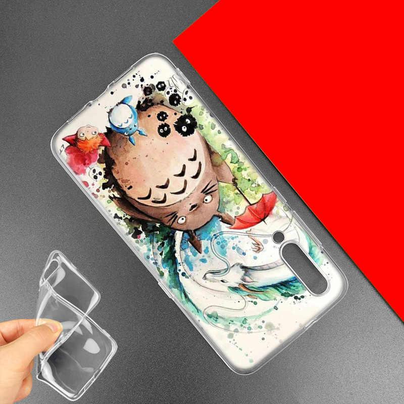 Carino Studio Ghibli Totoro per il Caso di Xiaomi Redmi Nota 8 8T 9S 7 9 Pro 7A K30 Zoom MI 10 5G CC9 9T 9T A3 Poco X2 F2 Sacchetti Del Telefono