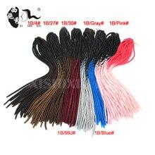 "18"" Two Tone Color Ombre Crochet Braid Twist Hair Synthetic Hair Dread Faux Locs Braids Hair Extensions Dreadlock Extension"