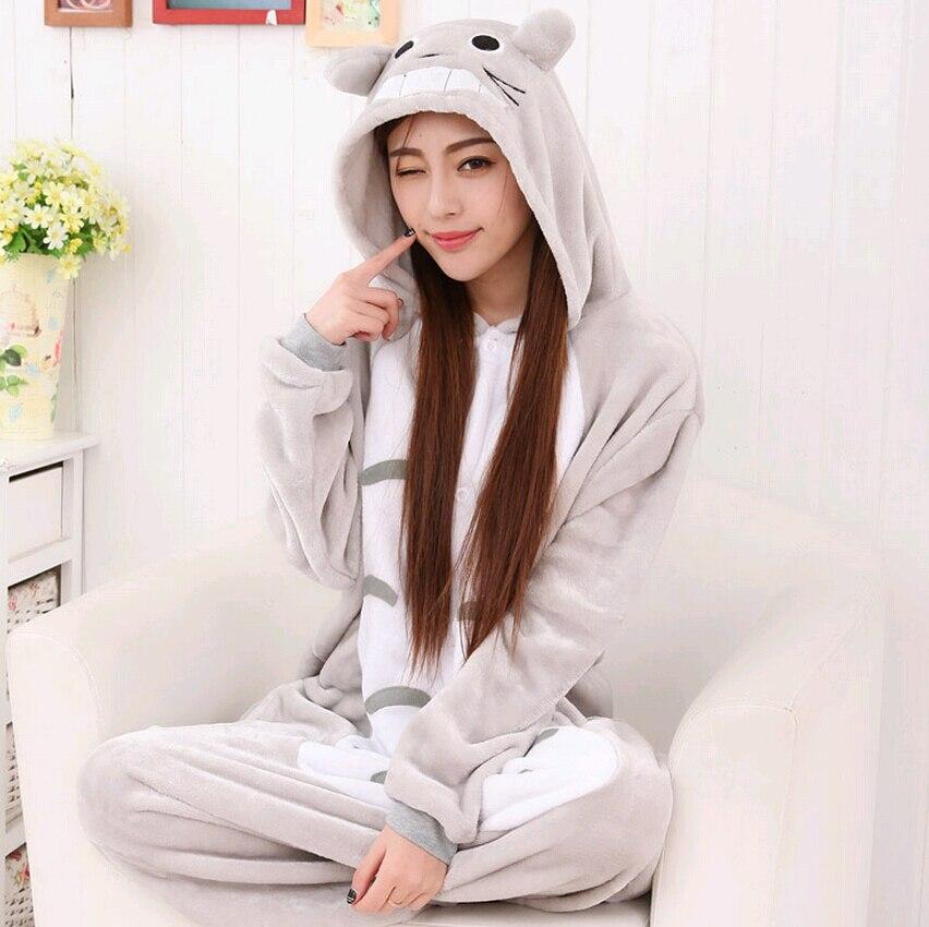 """""""Kigurumi"""" žiemos anime pižama Suaugusiųjų Onesie Totoro - Karnavaliniai kostiumai - Nuotrauka 3"""