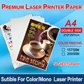 50 folhas a4 semi lustroso menu lateral dobro impressão de papel grosso 157g ou 200g para a impressora a laser mono/impressora a laser a cores