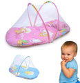 Summer Style Portable Baby Bed Crib Folding Mosquito Net Infant Cushion Mattress Pillow