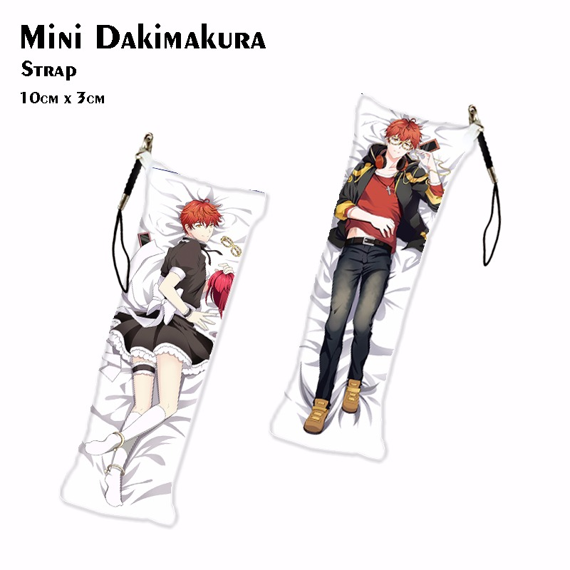 Game Mystic Messenger 707 Luciel Choi Mini Dakimakura Anime ZEN Keychain Jumin Han Phone Charm Key Holder Pendant Drop Ship