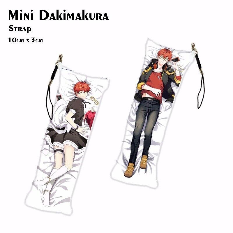 Game Mystic Messenger 707 Luciel Choi Mini Dakimakura Anime ZEN Keychain Jumin Han Phone Charm Key Holder Pendant Drop Ship