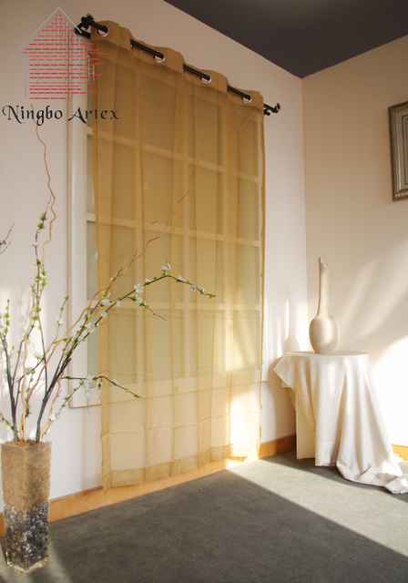 Artex Yellow Blinds Tulle Window Curtain Rideaux chambre Vliegen ...