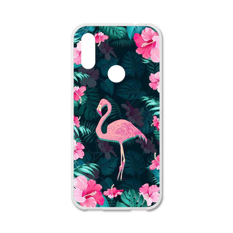 Bolomboy رسمت حالة ل Xiaomi Redmi 7 حالة سيليكون لينة TPU حالات ل Xiaomi Redmi Y3 S3 غطاء الزهور البرية لطيف الحيوان أكياس