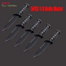 5PCS 1/6 Scale Soldier Accessories Black Knife Model For 12 Doll Figure