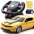 Escala 1:22 Veículo de Controle de Rádio Brinquedo de Controle Remoto carro de controle remoto volante Do Carro-Amarelo