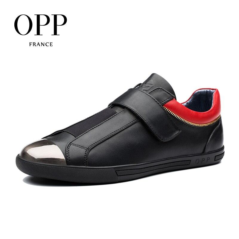 OPP Hook & Loop Flats Casual Shoes Cow Ls