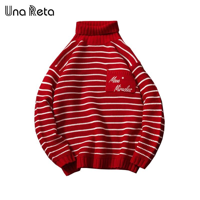 Una Reta suéter de cuello alto para hombre nuevo invierno
