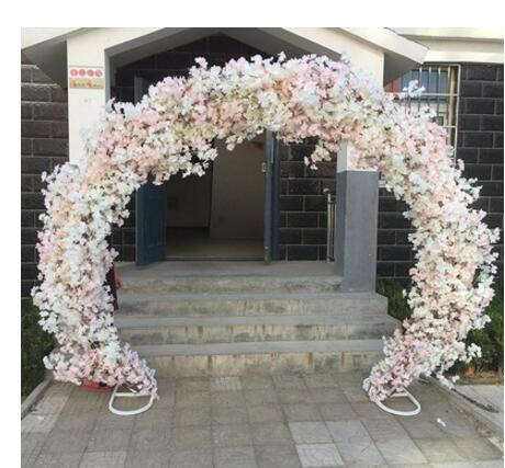 Cherry blossom arch round flower door wedding truss European iron frame square
