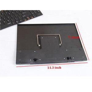Image 4 - Przenośny notatnik stojak do czytania uchwyt biurkowy z 7 regulowanymi rowkami, czarny