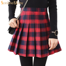 Red black plaid skirt online shopping-the world largest red black ...