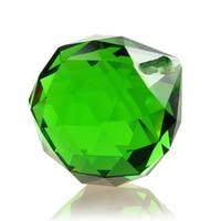 30 ملليمتر 5 قطعة/الحقيبة قطرة المنشور الثريا الزجاجية الخضراء الأوجه الكرة شنقا للضوء الجمال الزفاف/المنزل مصباح ديكور اكسسوارات