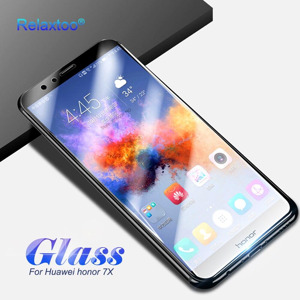 Galleria fotografica Protective Glass <font><b>Honor</b></font> <font><b>7X</b></font> Screen Protector 9 H Tempered Glass For Huawei <font><b>Honor</b></font> <font><b>7X</b></font> Play BND-L21 AL10 Full Cover Film Guard Case