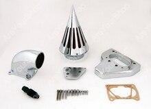 Продажа Мотоциклов Moto Конуса Спайк Воздухоочиститель воздушного Фильтра Комплект Системы ЧПУ Алюминиевый Chrome Для Honda VTX 1800 2002-2009