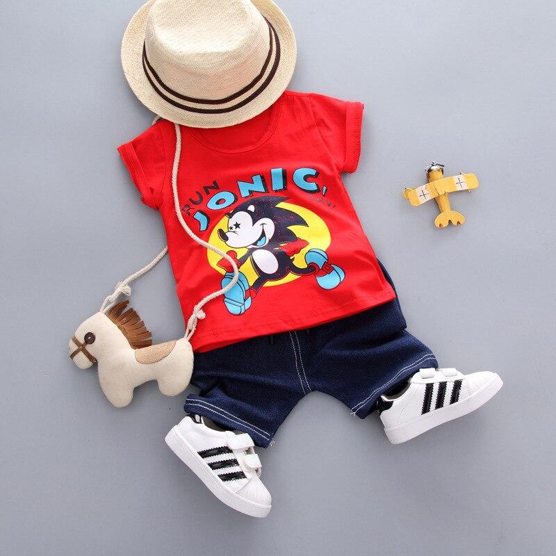 Baby boy clothes sets summer cotton cartton printing short T shirt+short pants childrens ...