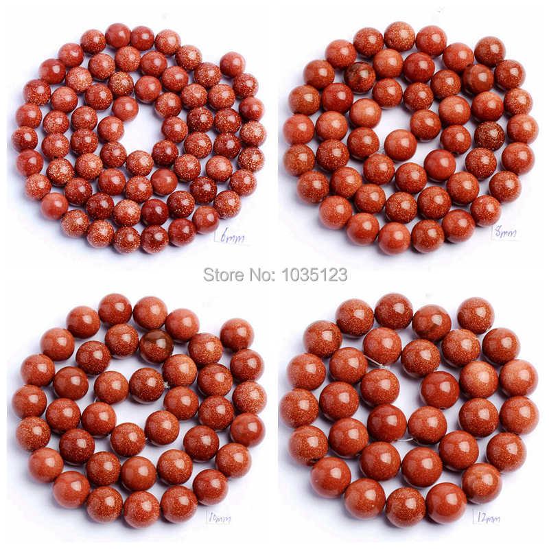 "Besplatna dostava 4.6.8.10.12mm glatki okrugli oblik crvenog pješčenjaka DIY dragulji labavi perli pramen 15 ""izrada nakita wj83"