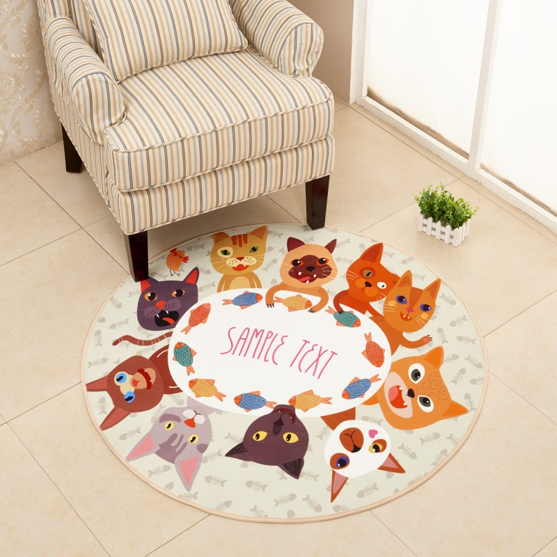 666307d5c78a3 Simple Style Round Carpet Kids Rug for Bedroom Bedside Rug Tapeta Baby  Crawling Mat Hallway Floor Mat Nice Carpet Kids Room - us517
