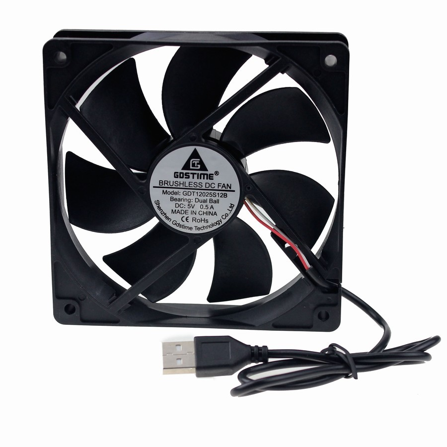 120mm Double Ball Bearing USB Powered Case Fan