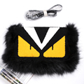 Winter New Style Luxury Brand Design Women Handbag Fashion Fox Fur Clutch Girls Cute Messenger Bag Wristlets Lady Crossbody Bag