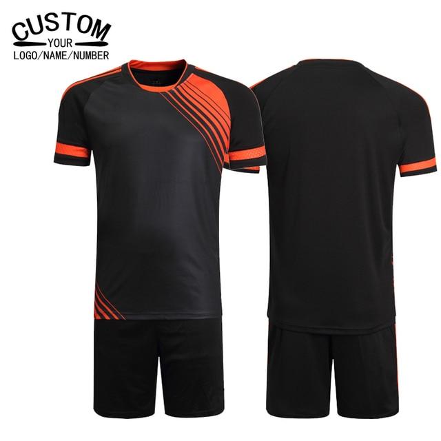 c4805876301 New Brand Custom Soccer Uniform Men Soccer Kits Soccer Football Team Jerseys  2016 2017 Sets Football Shirts Futbol Clothing